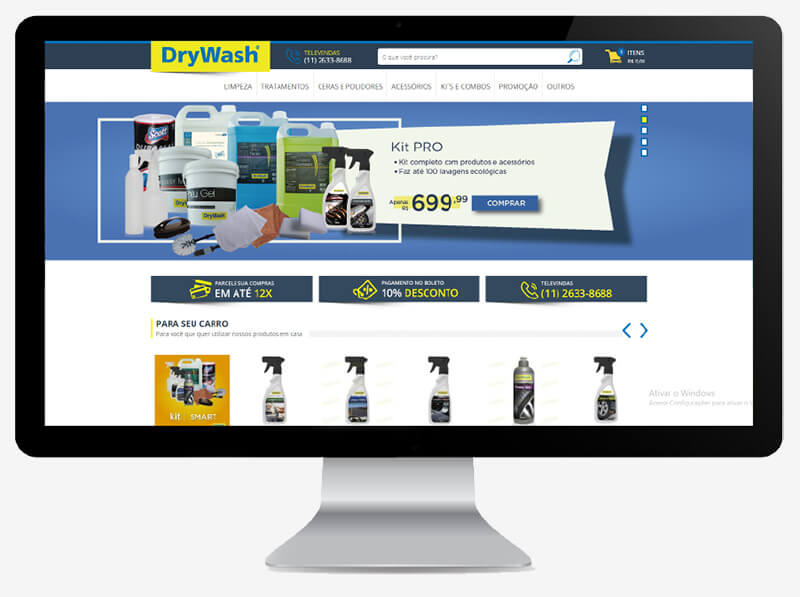 foto loja virtual DryWash